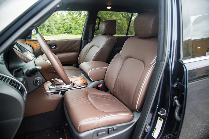 2017 Infiniti QX80 Limited brown leather front seats