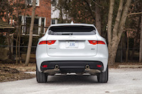 Jaguar F-Pace R-Sport rear view exhaust