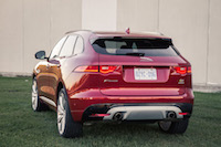 2017 Jaguar F-PACE S v6 rear view red