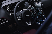 Jaguar XE 20d R-Sport interior black red