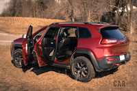 2017 Jeep Cherokee Trailhawk doors open
