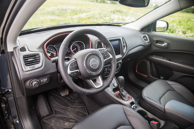2017 Jeep Compass Trailhawk black interior