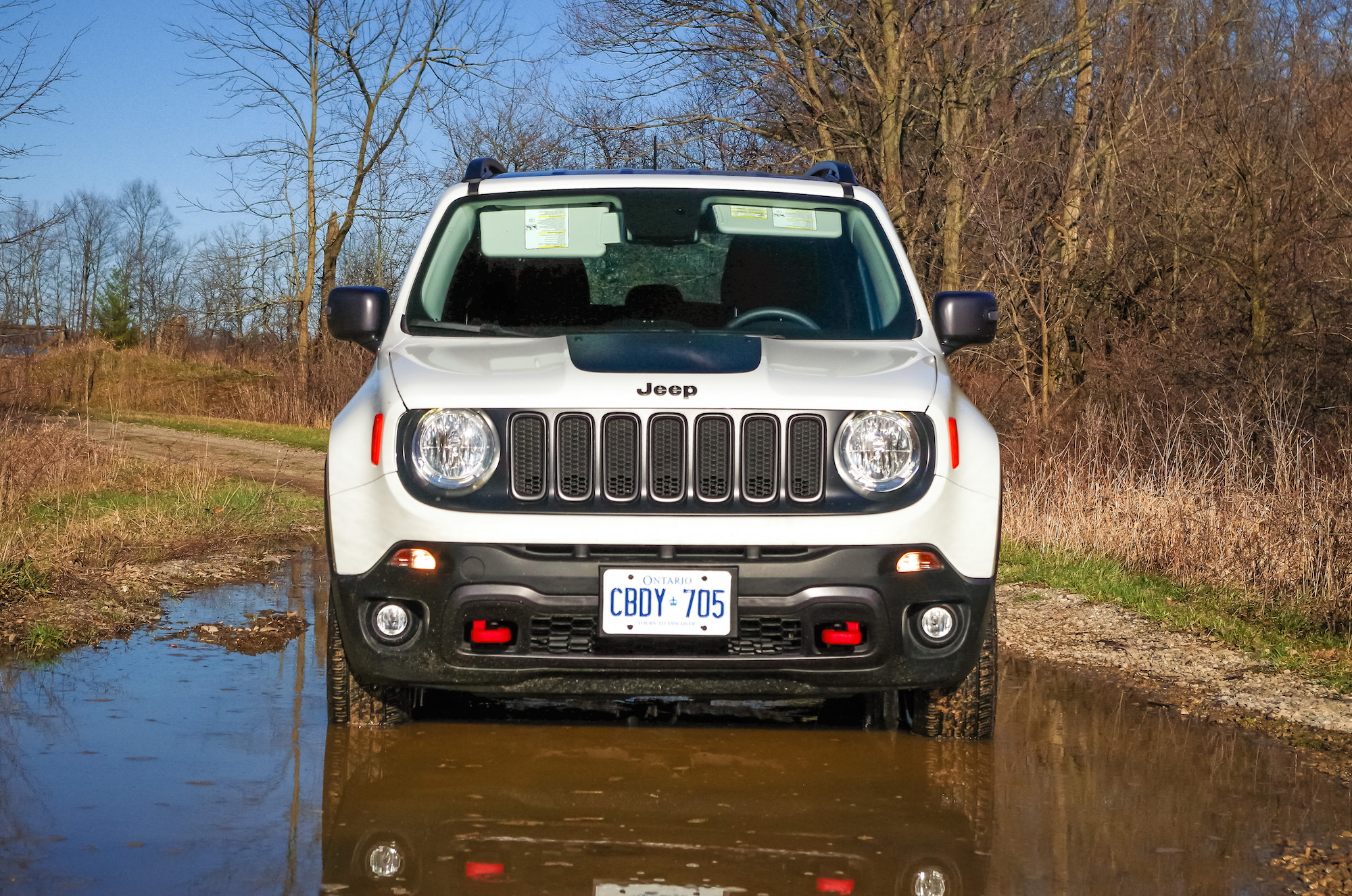 Front Puddle on Jeep Grand Cherokee Trailhawk Engine