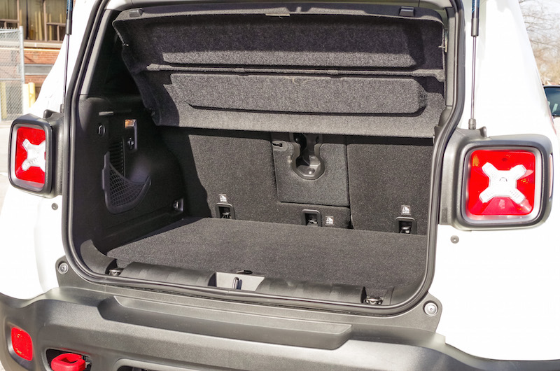 2017 Jeep Renegade Trailhawk trunk space cargo volume