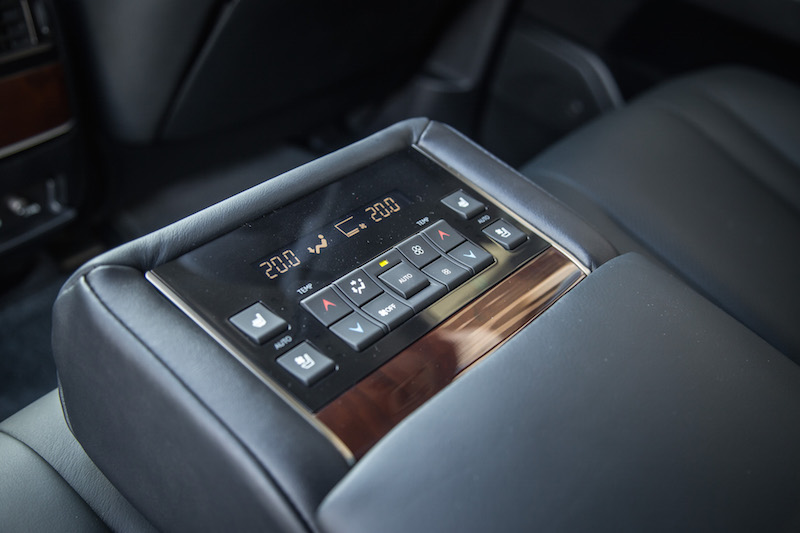2017 Lexus LX 570 rear seat hvac control panel