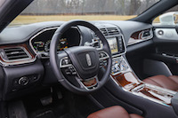 2017 Lincoln Continental Reserve AWD interior black brown leather