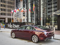 2017 Lincoln MKZ Hybrid red burgundy colour