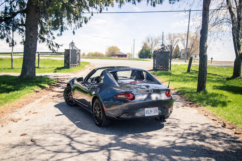 2017 Mazda MX-5 RF Grand Sport top down