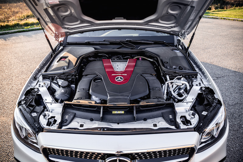 2017 Mercedes-AMG E43 v6 biturbo engine bay