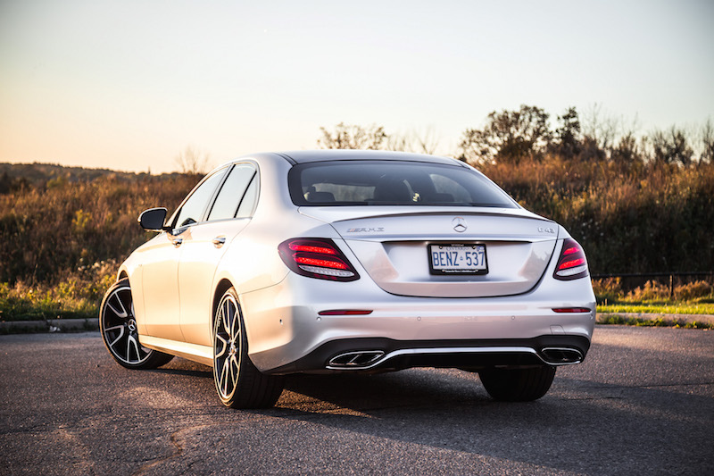 2017 Mercedes-AMG E43 rear quarter view