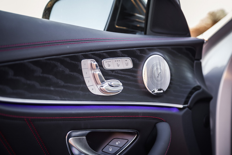 2017 Mercedes-AMG E43 door panel seat controls burmester audio