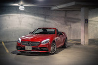 2017 Mercedes-AMG SLC 43 fire opal paint red