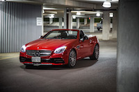 2017 Mercedes-AMG SLC 43 red paint