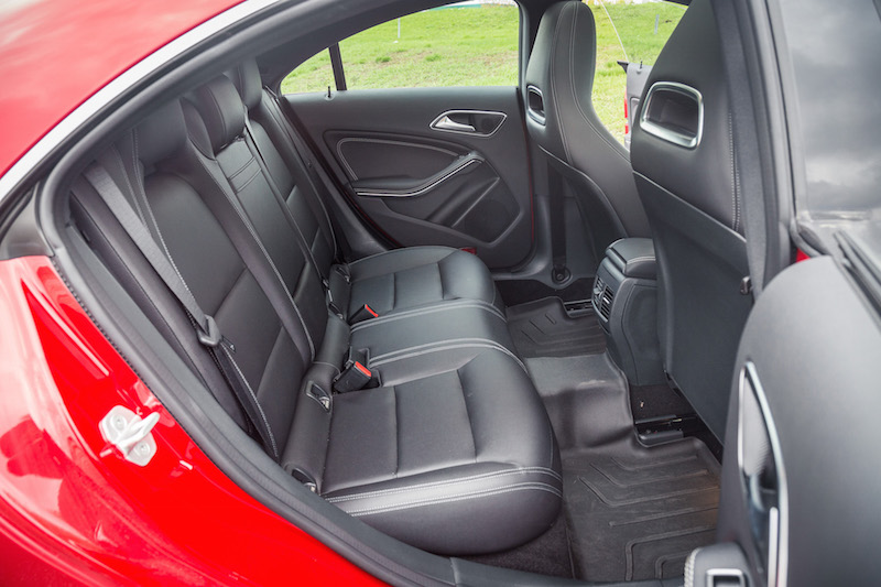 2017 Mercedes-Benz CLA 250 4MATIC rear seat legroom space
