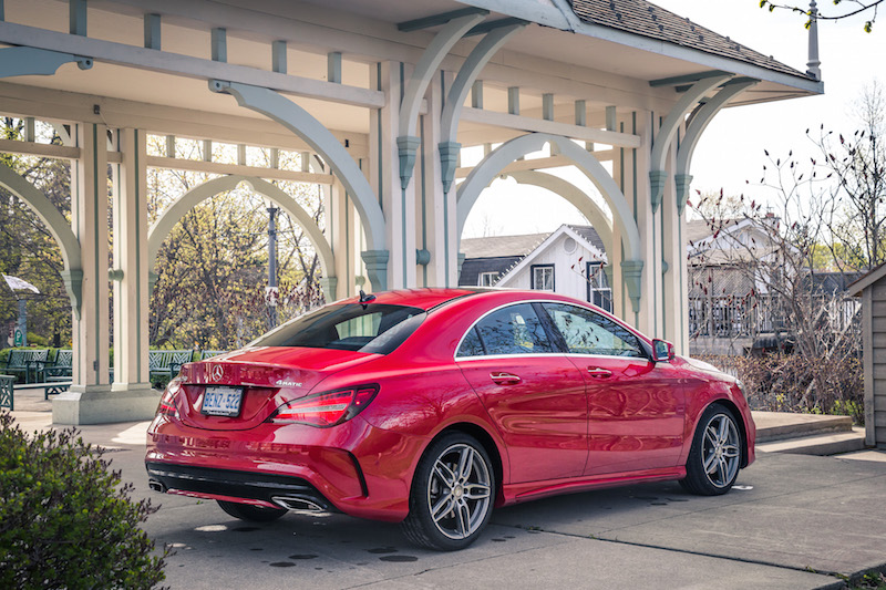 2017 Mercedes-Benz CLA 250 4MATIC rear quarter view