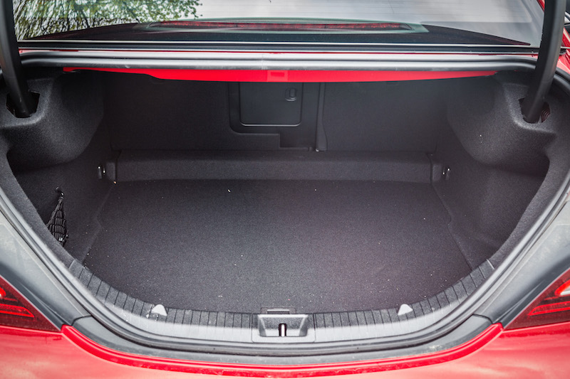 2017 Mercedes-Benz CLA 250 4MATIC trunk cargo room