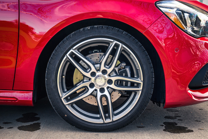 2017 Mercedes-Benz CLA 250 4MATIC wheels tire design