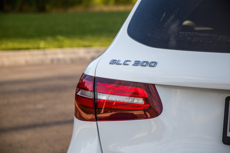 Mercedes-Benz GLC 300 taillights and badge