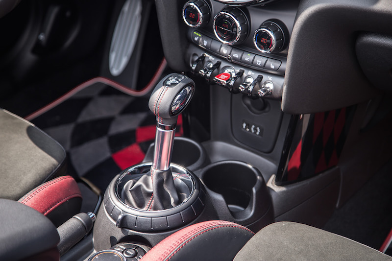 2017 MINI John Cooper Works Convertible automatic gear shifter