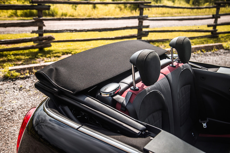 2017 MINI John Cooper Works Convertible fabric roof folded down