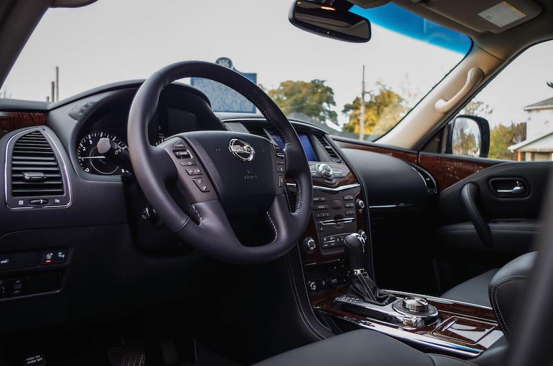review 2017 nissan armada platinum canadian auto review. Black Bedroom Furniture Sets. Home Design Ideas