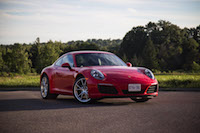 2017 Porsche 911 Carrera guards red front view
