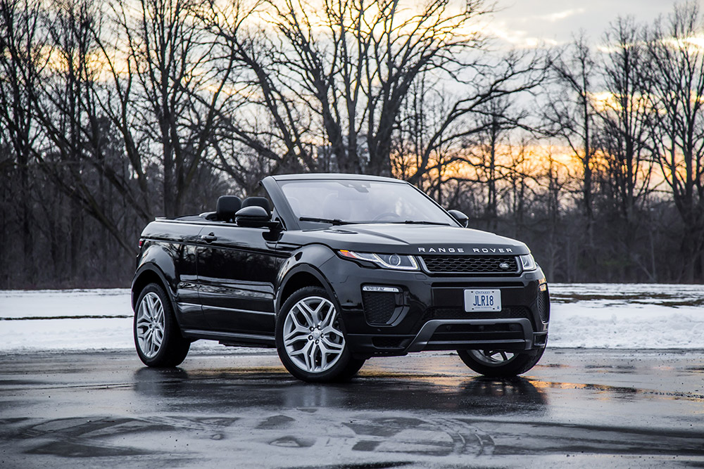 Range Rover Evoque Convertible canada review open top