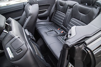 Range Rover Evoque Convertible rear seat legroom