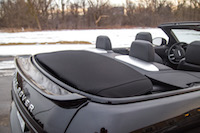 Range Rover Evoque Convertible fabric roof stowed away