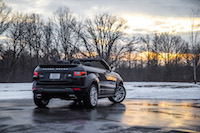 Range Rover Evoque Convertible rear quarter view