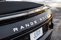 Range Rover Evoque Convertible rear spoiler