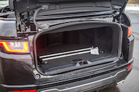 Range Rover Evoque Convertible trunk space