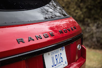 2017 Range Rover Evoque HSE Dynamic black package lettering
