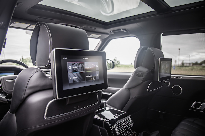 2017 Range Rover LWB Autobiography 10-inch rear entertainment screens