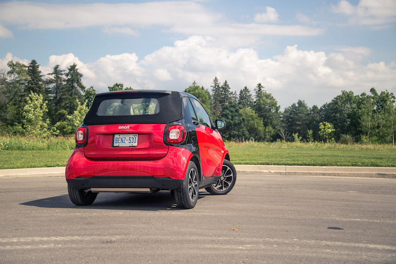 2017 smart fortwo cabrio roof up