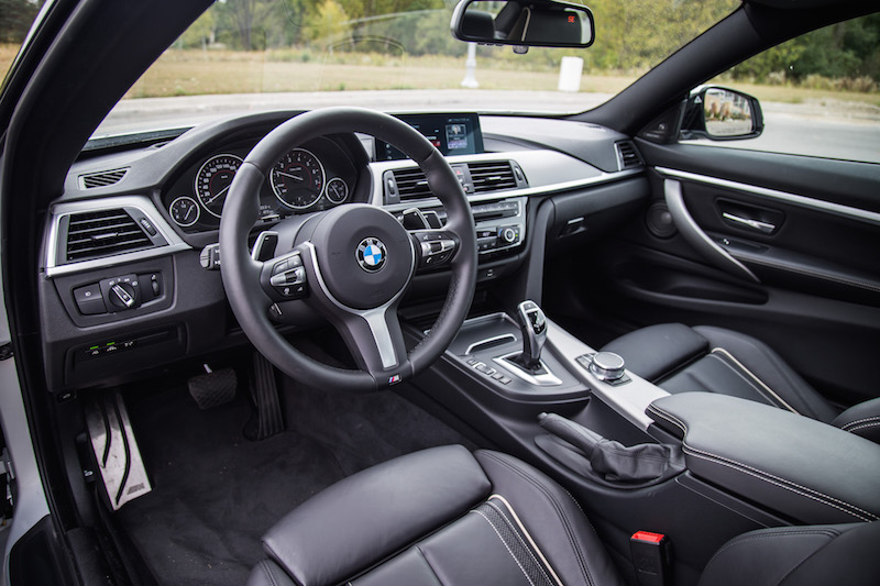 2018 BMW 440i xDrive 4 Series black interior