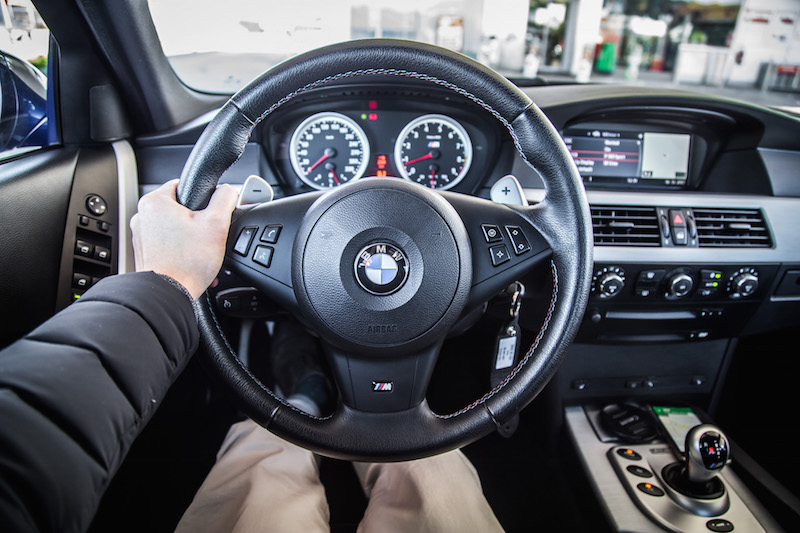 BMW e60 m5 steering wheel interior