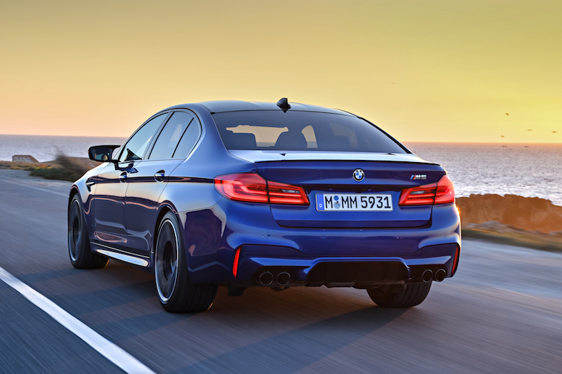 2018 BMW M5 rear quarter