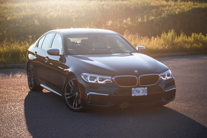 2018 BMW M550i xDrive sunset