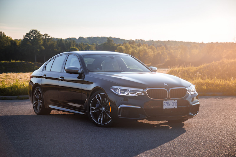 2018 BMW M550i xDrive carbon black metallic