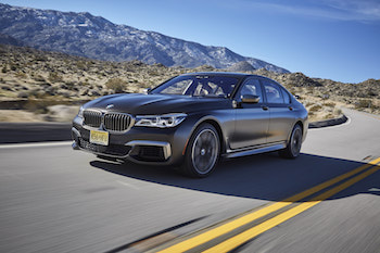 2018 BMW M760Li xDrive front quarter view