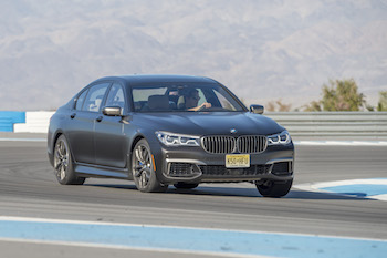 BMW M760Li xDrive Thermal Club Raceway track