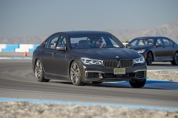 BMW M760Li xDrive Thermal Club Raceway drift