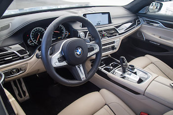 BMW M760Li xDrive interior steering wheel