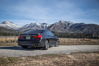 BMW M760Li xDrive rear quarter view