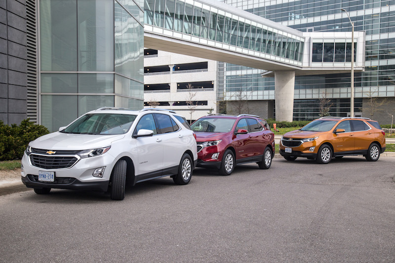 2018 Chevrolet Equinox media launch canada