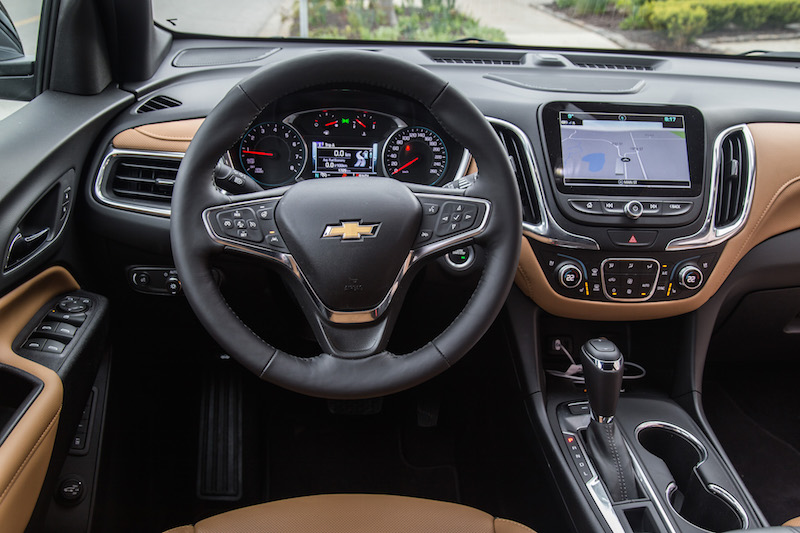 2018 Chevrolet Equinox interior leather yellow caramel
