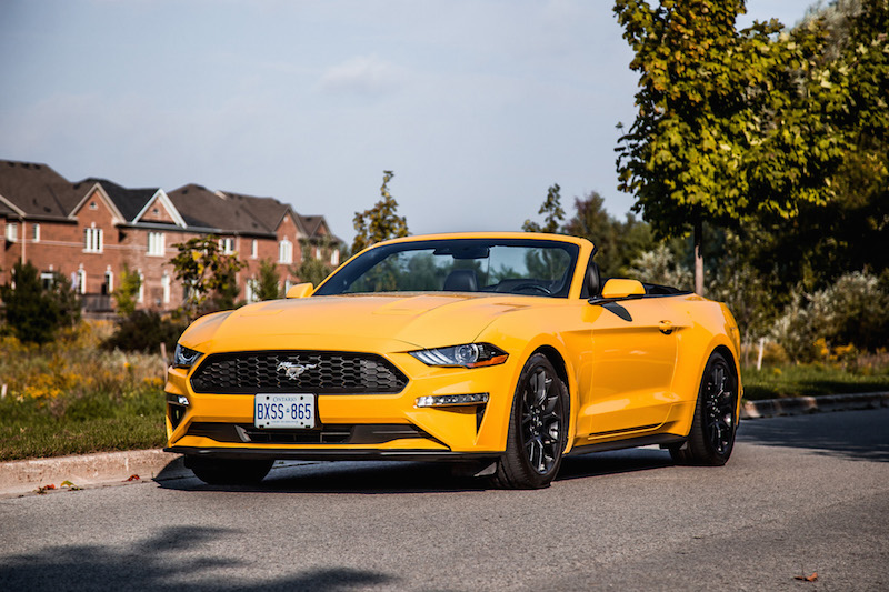 2018 Ford Mustang EcoBoost Convertible orange fury