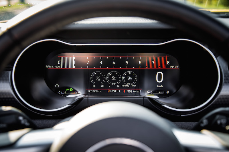 2018 Ford Mustang EcoBoost Convertible gauges