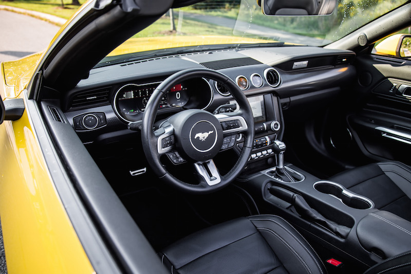 2018 Ford Mustang EcoBoost Convertible interior